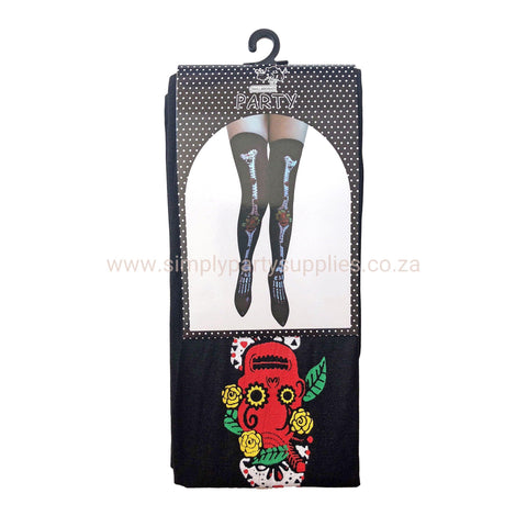 Fancy Dress Costume Accessory - Day Of The Dead Stockings