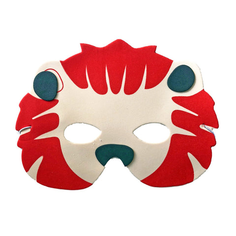 Lion Childrens Foam Animal Mask With Red Mane