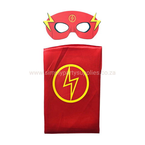 Children's Superhero Cape Set - Flash