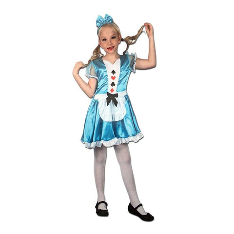 Girls Alice of Wonderland Costume alice, alice in wonderland, childrens, costume, fancy dress, girls, princess, wonderland
