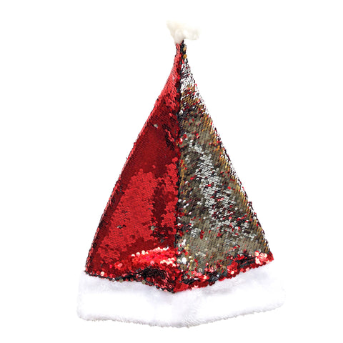 Deluxe Sequin Christmas Santa Claus Hat