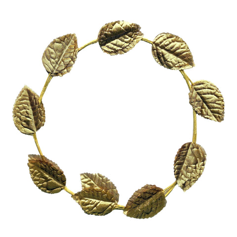 Roman Golden Leaf Wreath Head Piece