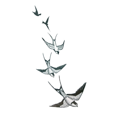 Swallows Small Temporary Tattoo animal, bird, mini, small, tattoo, wholesale