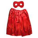 Children's Superhero Satin Cape And Mask Set - Red