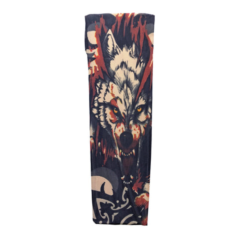 Fake Tattoo Sleeve (Single) - Wolf gangsta, gangster, mens, sleeve, stocking, tattoo, themed