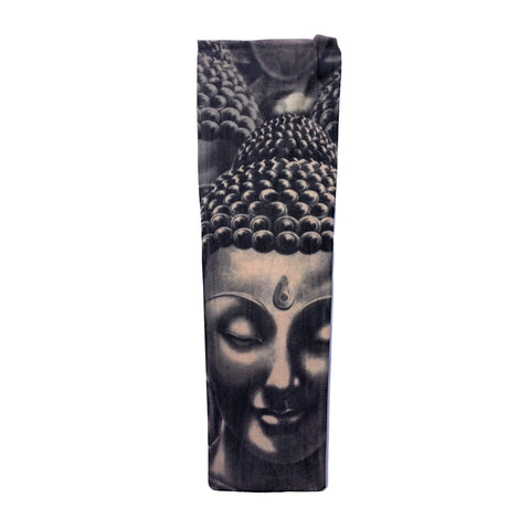 Fake Tattoo Sleeve (Single) - Buddha gangsta, gangster, mens, sleeve, stocking, tattoo, themed