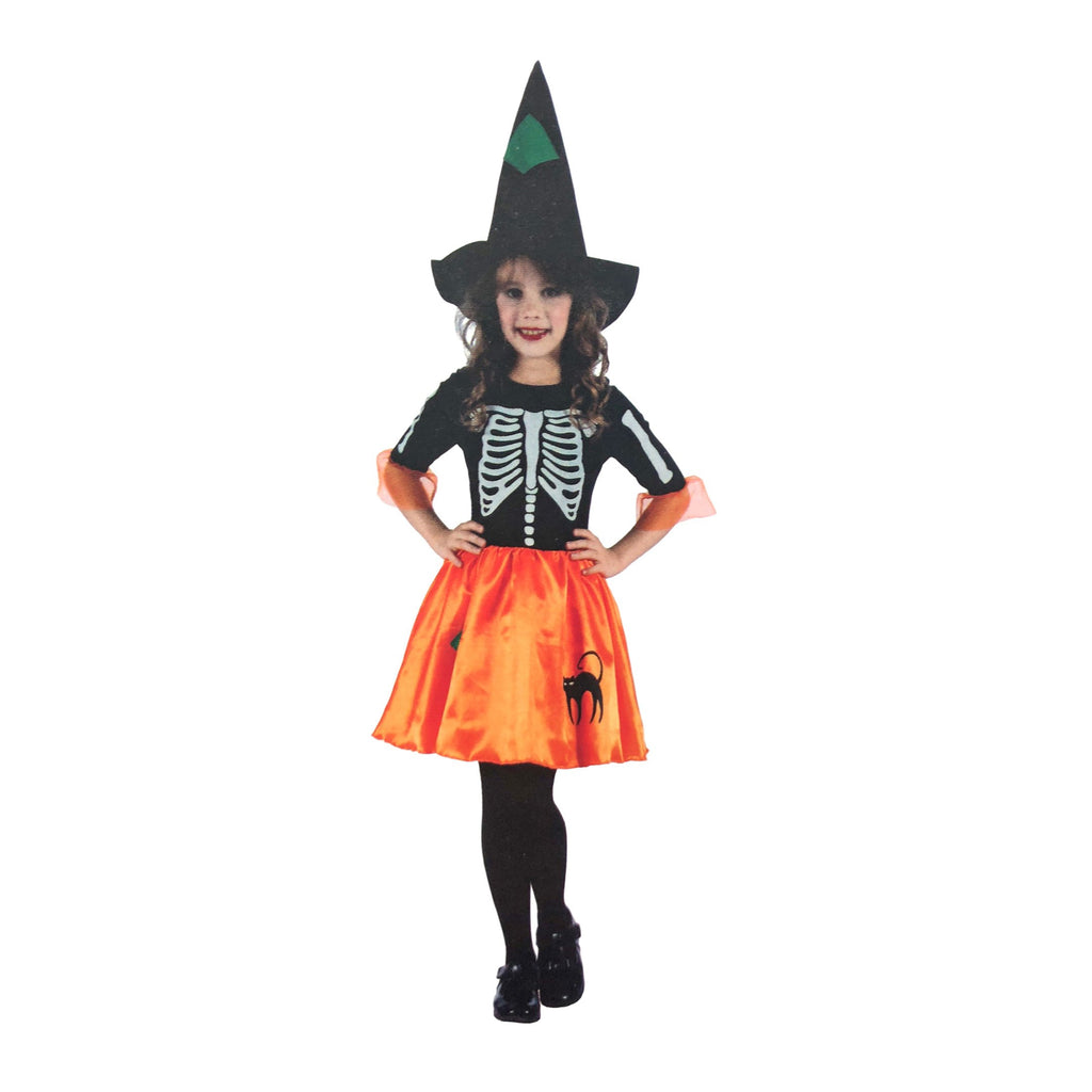 Girls Skeleton Witch Costume