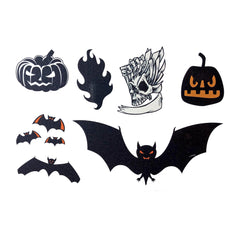 Halloween Bat Temporary Tattoo Themed Sheet