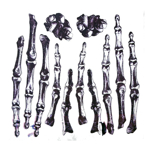Halloween Skeleton Hand Bones Temporary Tattoo colour, halloween, skeleton, tattoo, themed