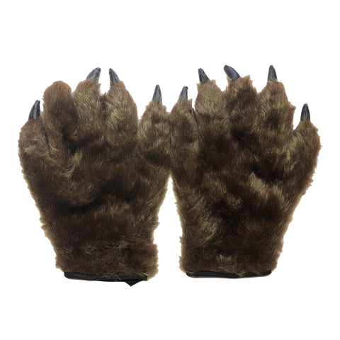 Hairy Hands Claw Gloves - Adult accessories, adult one size, fancy dress, gloves, halloween, mens, scary, werewolf, wolf