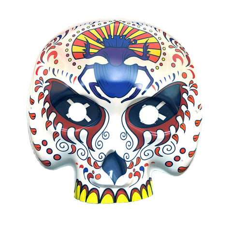 Day Of The Dead Masquerade Mask - Blue Insect