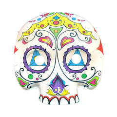 Day Of The Dead Masquerade Mask - Colourful Crown