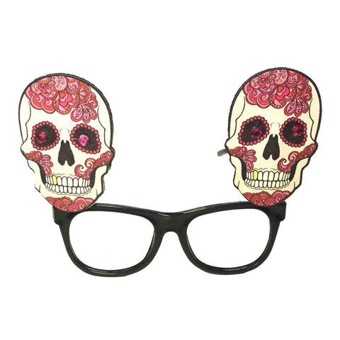 Day Of The Dead Glasses - Paisley Design