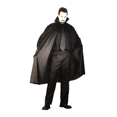 Black Adult Cape - 140cm - Fancy Dress Costume - Simply Party Supplies