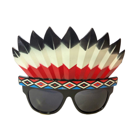 Native Indian Headband Feather Glasses