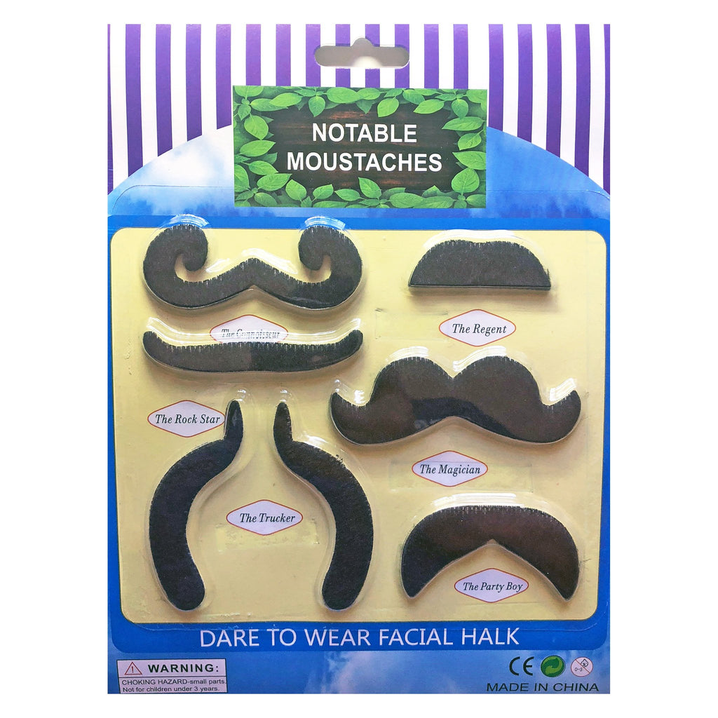 Set of Notable Moustcahes accessories, alice in wonderland, costume, facial hair, fancy dress, great gatsby, mens, moustache, mustache