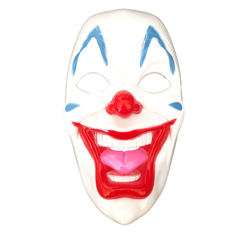 Happy Clown Mask adult, adult one size, clown, fancy dress, halloween, masks, mens, villains