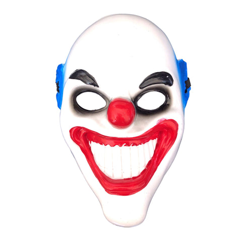 Grinning Clown Mask Black/Blue adult, adult one size, clown, fancy dress, halloween, masks, mens, villains