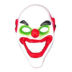 Grinning Clown Mask Green/Red