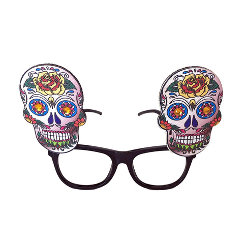 Day Of The Dead Glasses - Rose Design