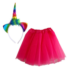 Rainbow Unicorn Dress Up Set - Cerise Pink