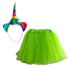 Rainbow Unicorn Dress Up Set - Green