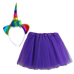 Rainbow Unicorn Dress Up Set - Purple