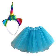Rainbow Unicorn Dress Up Set - Light Blue