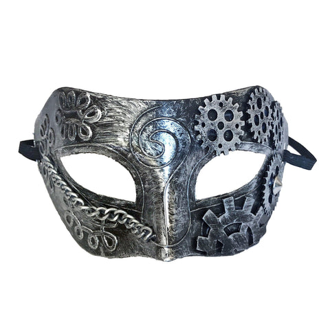 Steampunk Mens Masquerade Mask Silver accessories, cosplay, fancy dress, funny, masquerade, mens, silver, steam punk, steampunk