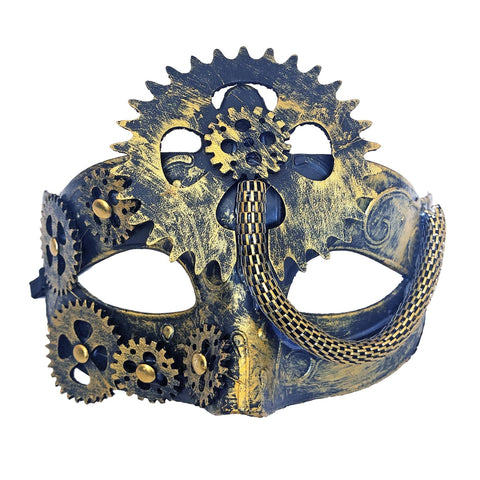 Steampunk Womens Masquerade Mask Gold accessories, cosplay, fancy dress, funny, gold, masquerade, steam punk, steampunk, womens