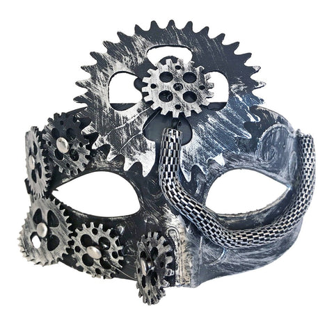 Steampunk Womens Masquerade Mask Silver accessories, cosplay, fancy dress, funny, masquerade, silver, steam punk, steampunk, womens