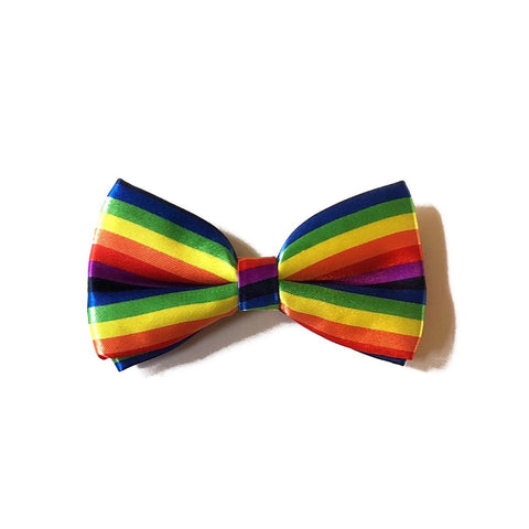 Satin Bow Tie - Rainbow