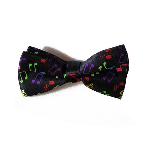 Satin Bow Tie - Music Notes