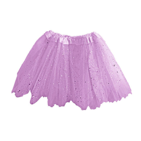 Girls Lilac Tulle Tutu With Glitter