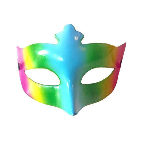 Rainbow Carnival Scout Masquerade Mask adult one size, fancy dress, mardi gras, masks, masquerade, venetian, womens