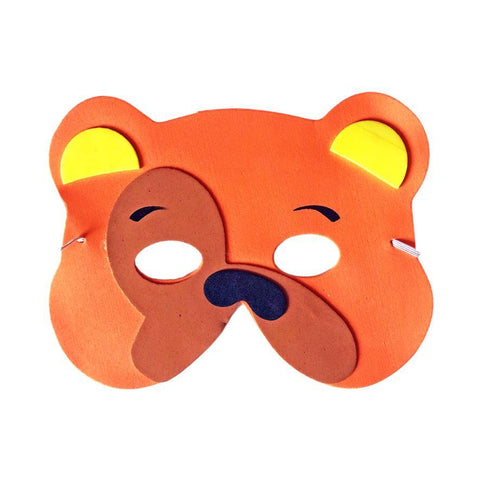 Dog Childrens Foam Animal Mask - Orange with Yellow Ears