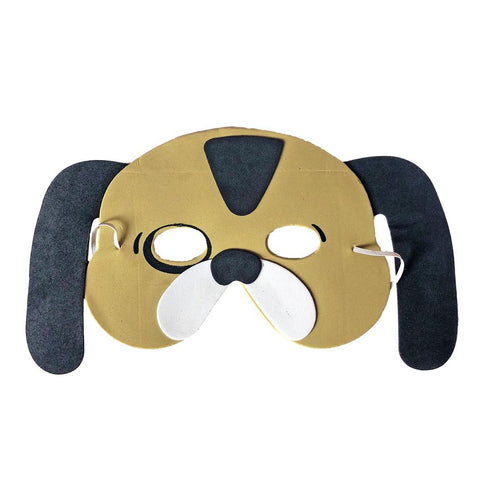 Dog Childrens Foam Animal Mask - Brown with Black Spot