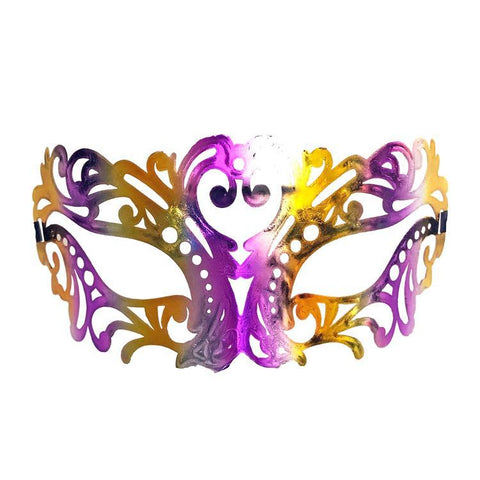 Jewel Tones Filigree Masquerade Mask with Purple and Gold adult one size, fancy dress, gold, mardi gras, masks, masquerade, purple, venetian, womens