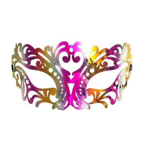 Jewel Tones Filigree Masquerade Mask with Pink and Gold adult one size, cerise pink, fancy dress, gold, mardi gras, masks, masquerade, pink, venetian, womens