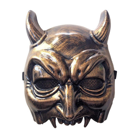 Horned Vampire Bronze Halloween Half Mask bronze, fancy dress, half masks, halloween, masks, mens, scary, vampire, vampires