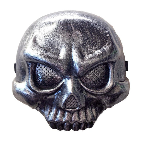 Skeleton Scary Halloween Silver Half Mask fancy dress, half masks, halloween, masks, mens, scary, silver, skeleton