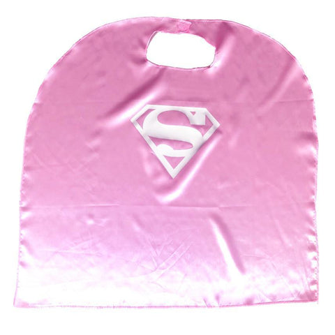 Children's Budget Superhero Satin Cape - Super Girl Pink - Fancy Dress Costume - Simply Party Supplies