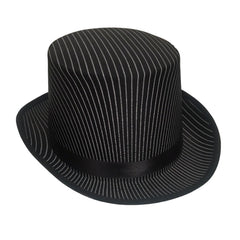 Top Hat with Pinstripe - Black