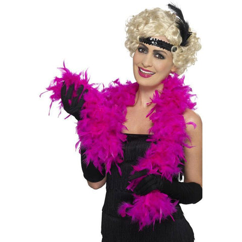Feather Boa 2m - Cerise Pink 1920's, accessories, adult one size, bachelorette, burlesque, cerise pink, fancy dress, feather, feather boa, feathers, flapper, gangster, great gatsby, ladies, maffia, mafia, mardi gras, masquerade, pink, womens