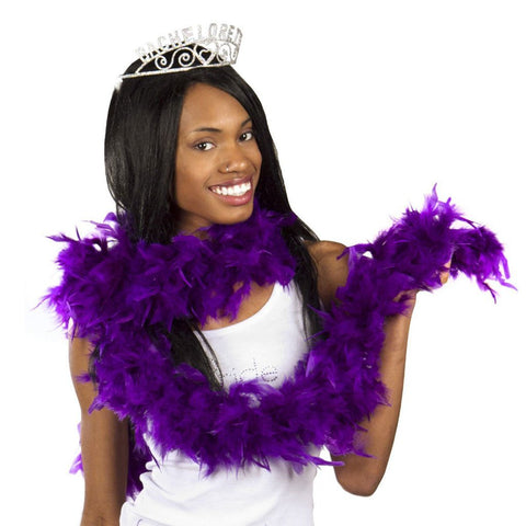 Feather Boa 2m - Purple 1920's, accessories, adult one size, bachelorette, burlesque, fancy dress, feather, feather boa, feathers, flapper, gangster, great gatsby, ladies, maffia, mafia, mardi gras, masquerade, purple, womens