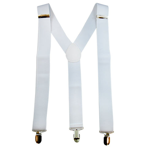 Suspenders - White 1920's, accessories, adults, alice in wonderland, casino, childrens, clown, fancy dress, gangster, great gatsby, mafia, magician, mens, suspender, suspenders, white, womens