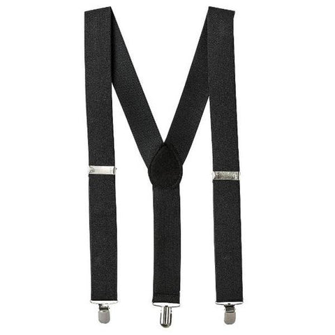 Suspenders - Black 1920's, accessories, adults, alice in wonderland, black, casino, childrens, clown, fancy dress, gangster, great gatsby, mafia, magician, mens, suspender, suspenders, womens
