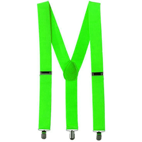 Suspenders - Neon Lime Green