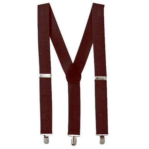 Suspenders - Dark Brown 1920's, accessories, adults, alice in wonderland, brown, casino, childrens, clown, fancy dress, gangster, great gatsby, mafia, magician, mens, suspender, suspenders, womens