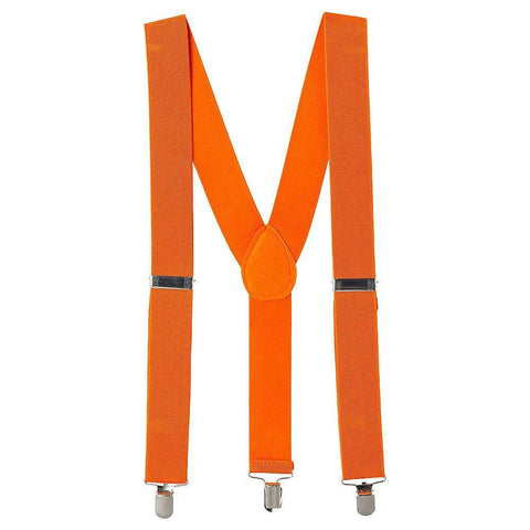 Suspenders - Neon Orange 1920's, accessories, adults, alice in wonderland, casino, childrens, clown, fancy dress, gangster, great gatsby, mafia, magician, mens, neon, orange, suspender, suspenders, womens